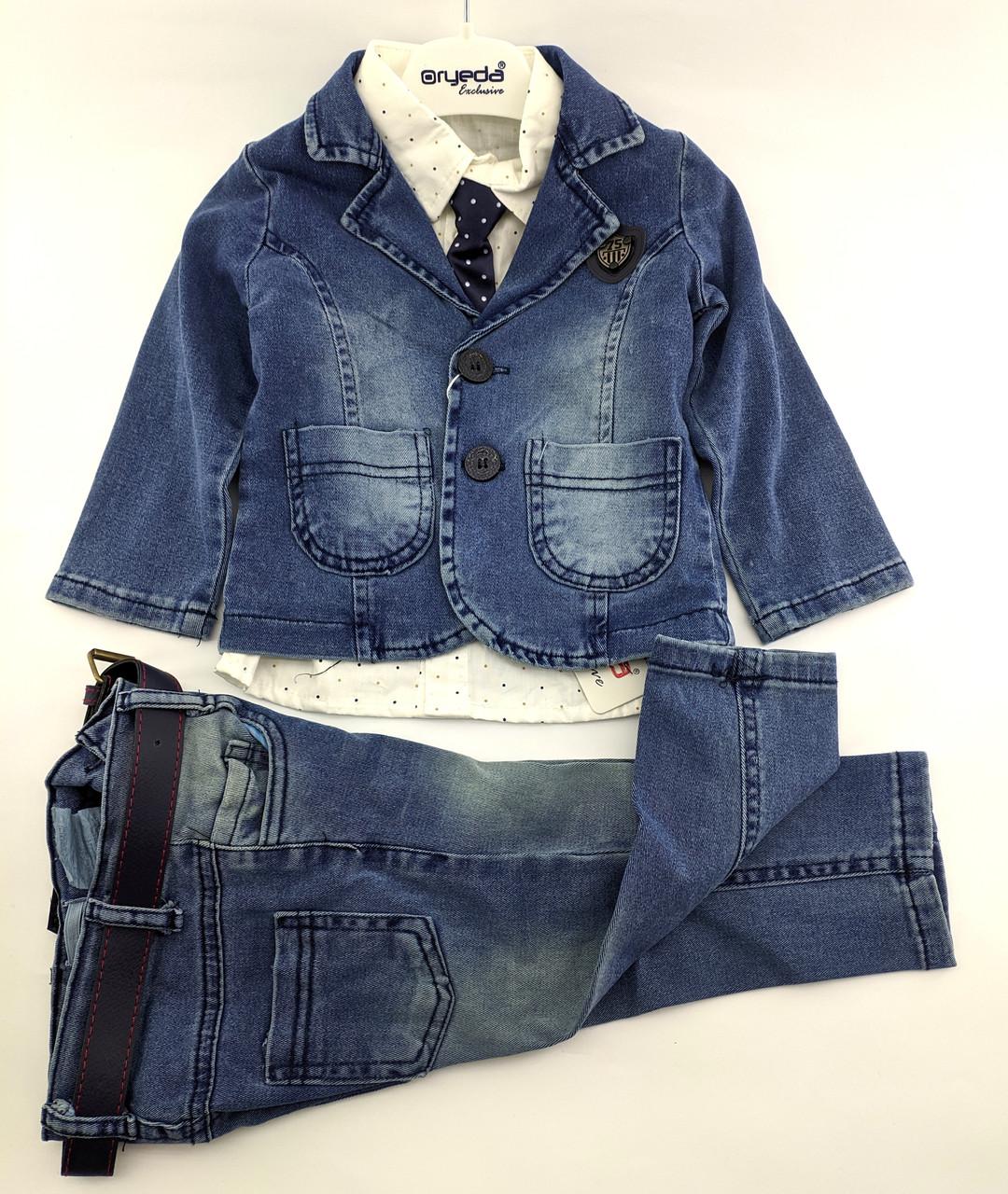 Детские костюмы 1 2 3 и 4 года Турция на мальчика детский костюм нарядные джинсовый