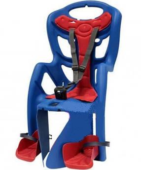 Велокресло Bellelli Pepe Италия clamp на багажник синий