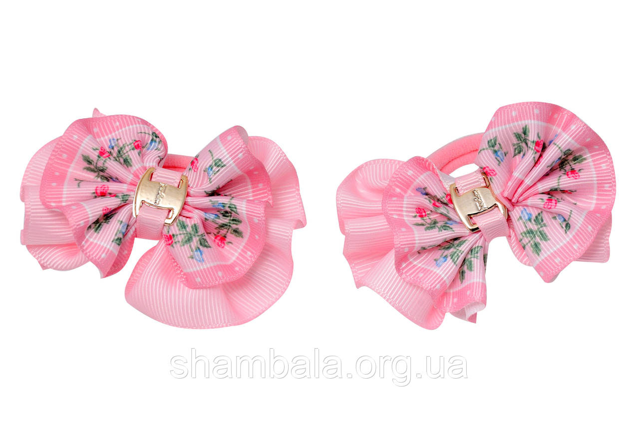 "Бант-гумка для волосся ""Lace"" пара (015651)"
