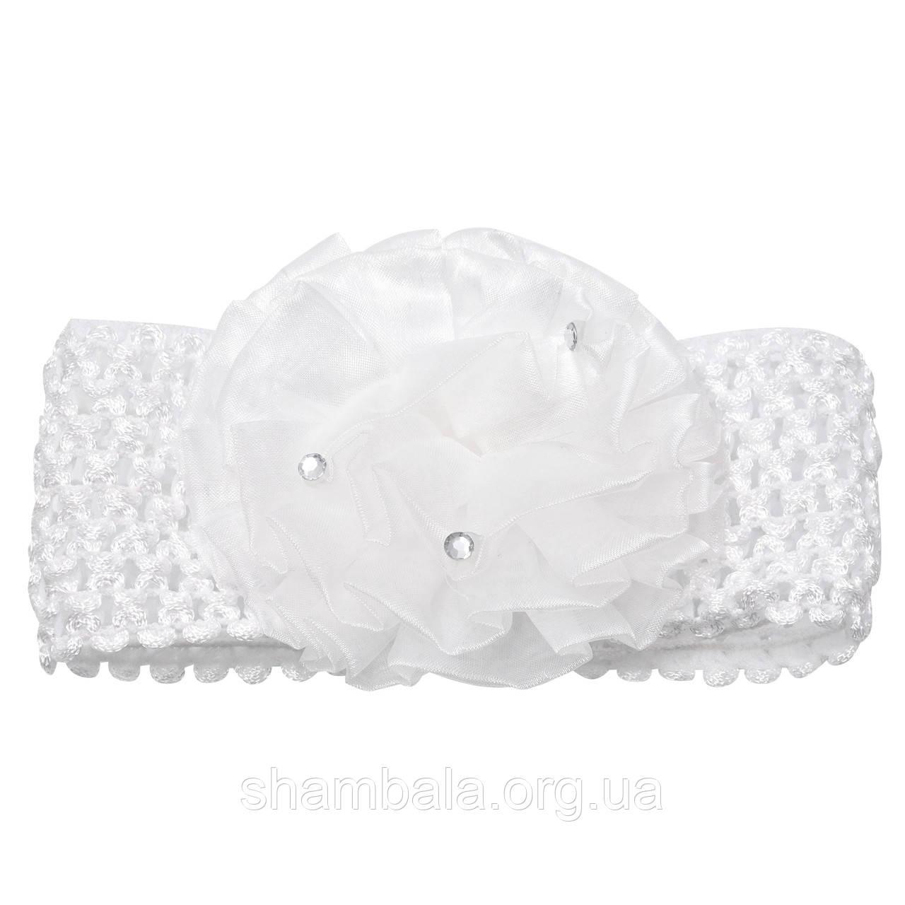 """Пов'язка для волосся """"White flower"""" дитяча (047942)"""