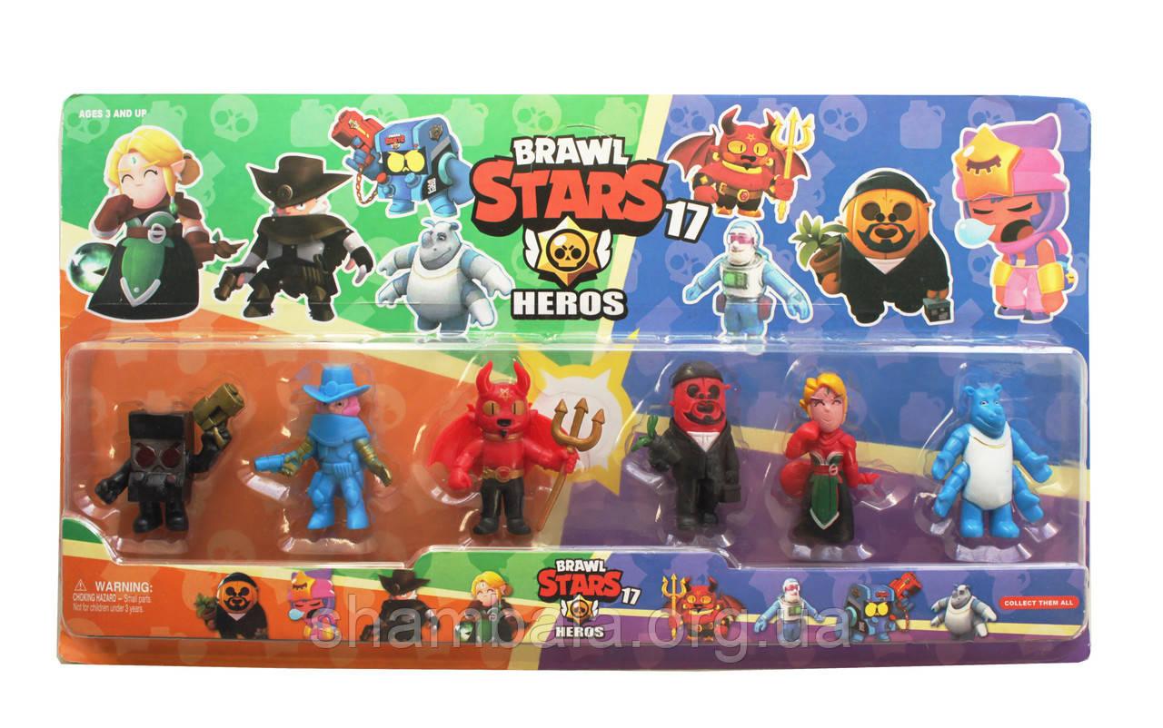 """Набор фигурок """"Brawl Stars Heros 17"""" (075211)"""