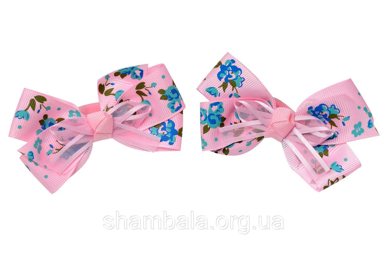 "Бант-гумка для волосся ""Flowers"" пара (061252)"