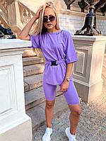 Жіночий костюм з футболкою і велосипедками (Норма), фото 3