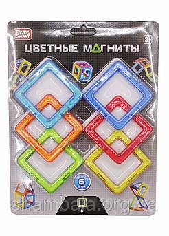 Цветные магниты Play Smart  конструктор 6 штук (064857)