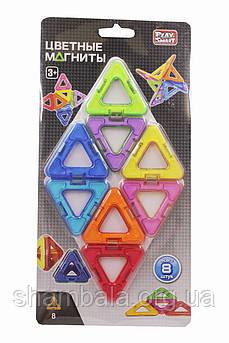 Цветные магниты Play Smart  конструктор 8 штук (080963)