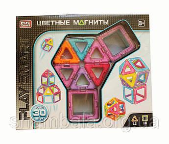 Цветные магниты Play Smart конструктор 30 штук (080970)