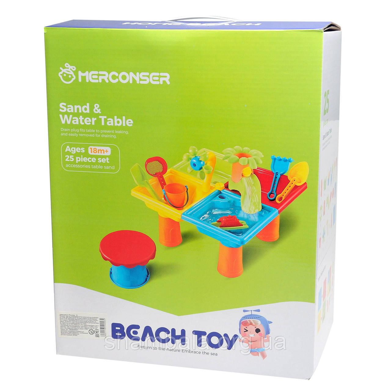 """Игровой столик для песка и воды Merconser """"Sand & Water Table"""" (080130)"""