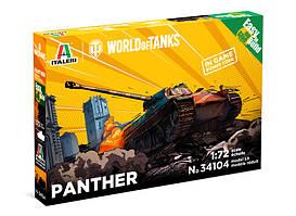PANTHER - World of Tanks. Сборная модель танка в масштабе 1/72. ITALERI 34104