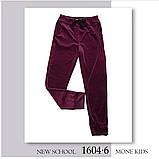 Бордовые бархатные брюки для девочки  тм Моне р-р 128,134,140,146,152, фото 2
