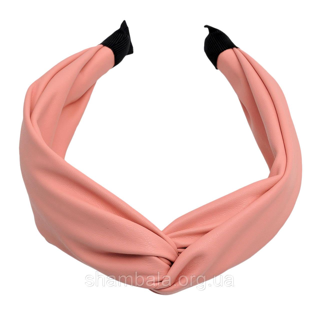 """Обруч для волос """"Fabric pink"""" (061627)"""
