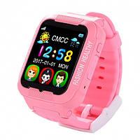 Smart Watch K3 РОЗОВЫЕ. Детские смарт часы. Умные детские часы с GPS трекером., фото 1