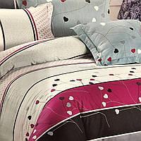 """""""сердечки"""" семейный комплект постельного белья Elway Premium,ткань сатин 100% хлопок"""