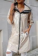 Куртка из плащевки с капюшоном женская БАТАЛ (ПОШТУЧНО), фото 1