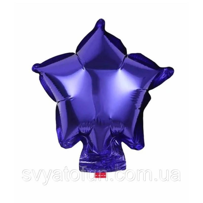 """Фольгированный шар микро-звезда фиолетовый 4"""" Китай"""