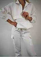 Спортивний костюм жіночий стильний, штани з кишенями, високої якості(42-50)