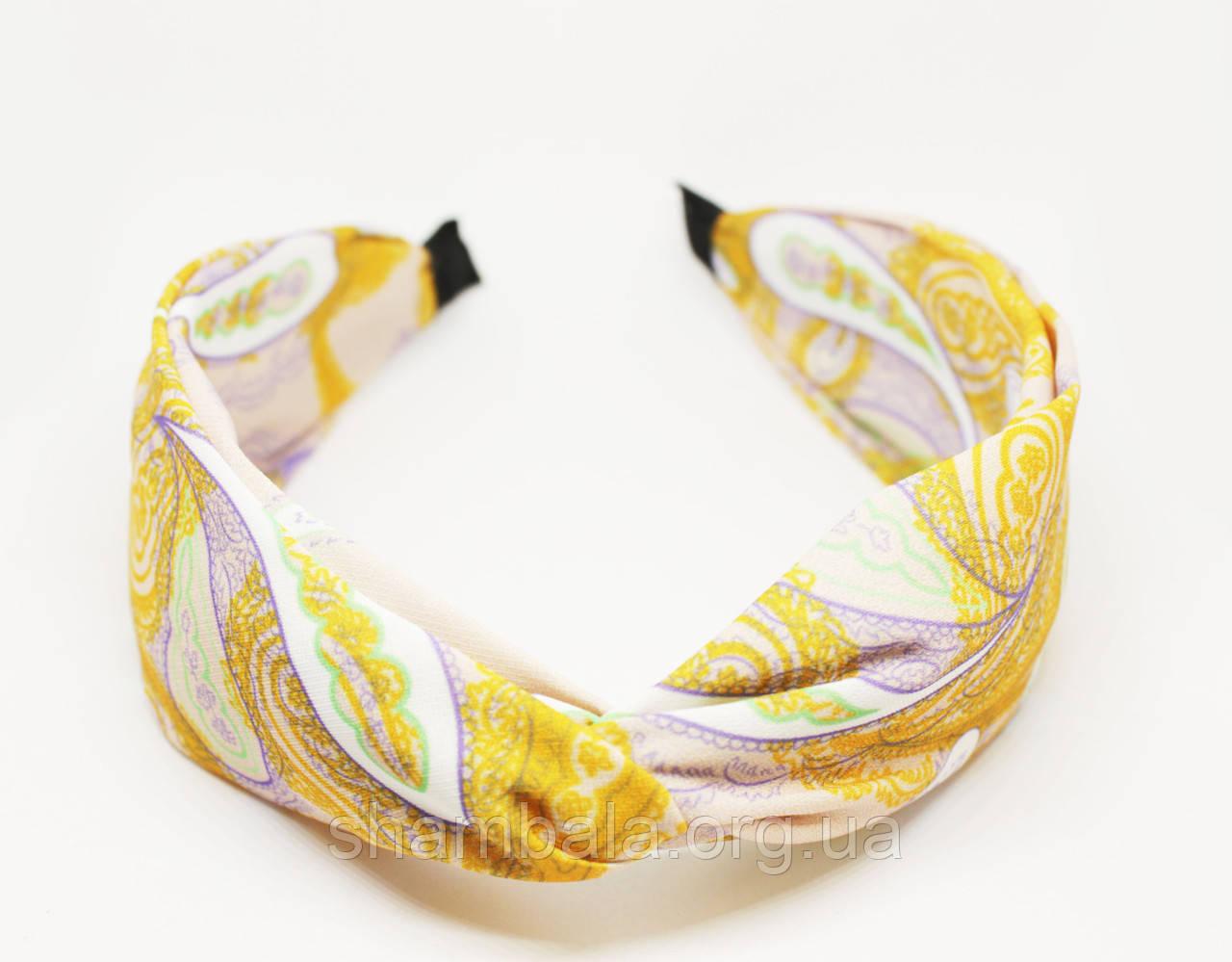 """Обруч-чалма для волос """"Yellow pattern"""" (061627)"""