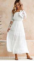 Нежное светлое летнее платье КодФЛ575