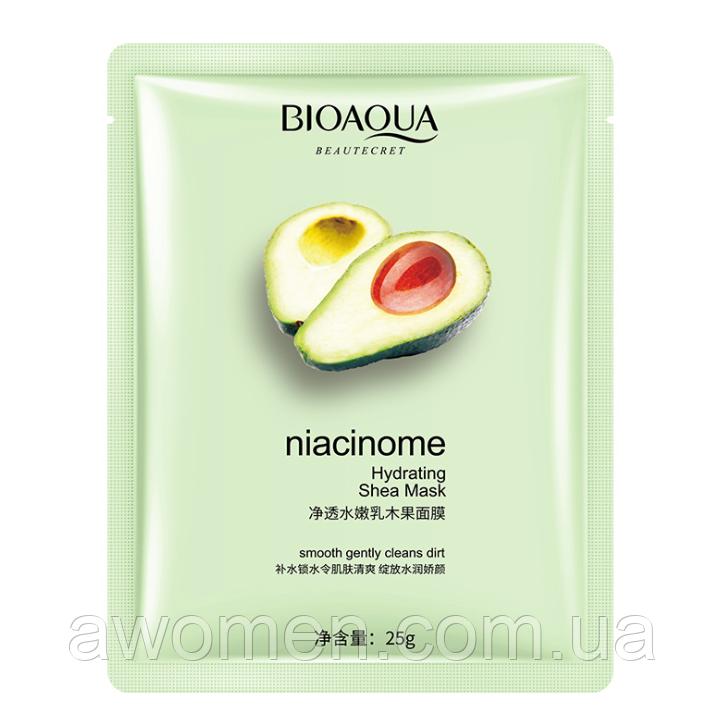 Маска для лица Bioaqua Avocado Niacinome с экстрактом авокадо 25 g