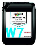 """Антисептик санітарний концентрат 1:4 W7 """"Kompozit"""" 10л"""