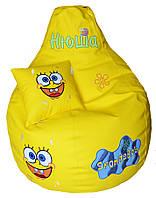Детское Кресло бескаркасное мешок груша пуф Губка Боб