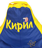 Детское Кресло, бескаркасное мешок-груша, пуф детский Губка Боб, фото 4