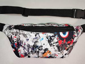 (12*28- 2-отде)Детская сумка на пояс Принт ткань спортивные барсетки сумка подростковые Девочка и мальчик опт
