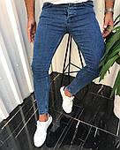 Чоловічі джинси сині слім фіт