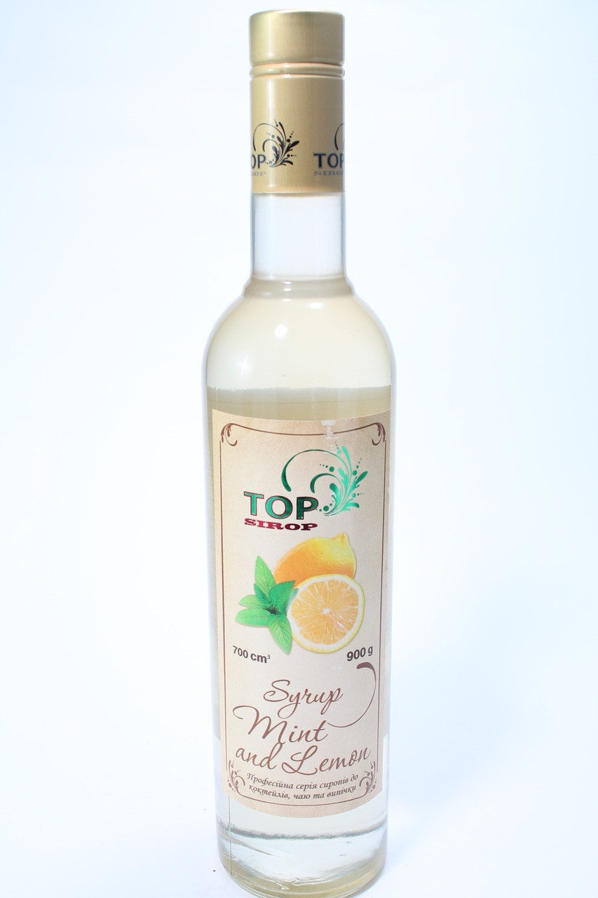 Сироп Мята лимон коктейльный 700мл сладкий безалкогольный для кофе коктейлей мороженого