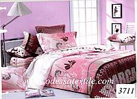 Комплект постельного белья полуторный  Elway 3711 cатин