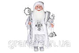 Декоративная кукла Санта Клаус 45 см, цвет  -серебро