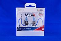 Лампа автомобильная MTA H3 12V 55W PK22S SUPER WHITE 2 шт 028583, КОД: 1753247