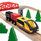 Деревянная железная дорога Juniori 46 элементов, фото 6