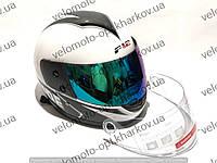 Шлем интеграл F2 Balide, белый глянцевый прозрачный+тонированный визор