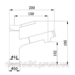 Смеситель для раковины с выдвижным изливом Q-tap Inspai CRM 011F, фото 2