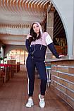 Спортивный костюм женский Турецкая двунитка Размер 48-50 52-54 Разные цвета, фото 2