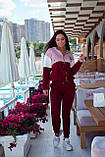 Спортивный костюм женский Турецкая двунитка Размер 48-50 52-54 Разные цвета, фото 6