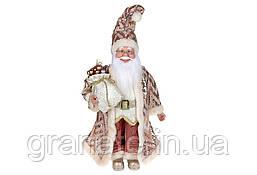 Новогодняя игрушка Санта Клаус 45см, цвет - розовый