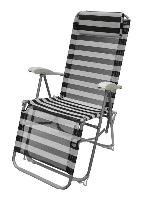 Кресло складное шезлонг Time Eco для отдыха на природе, для пикника полосатое