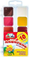 """Акварель медова ТЕТРАДА 10 кольорів, """"Карамелька"""", пластикова коробка (60шт / ящ)"""