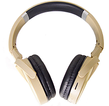 Наушники беспроводные Bluetooth MDR 950 microSD, золотые