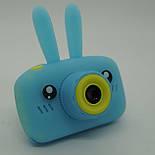Детский цифровой фотоаппарат Smart Kids Cam TOY 9 PLUS Rabbit Blue, фото 4