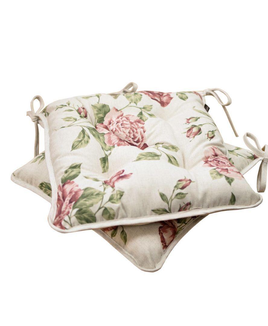 """Подушка на стілець """"Large Pink Rose"""" 40*40 ТМ """"Прованс"""" холлоф,"""