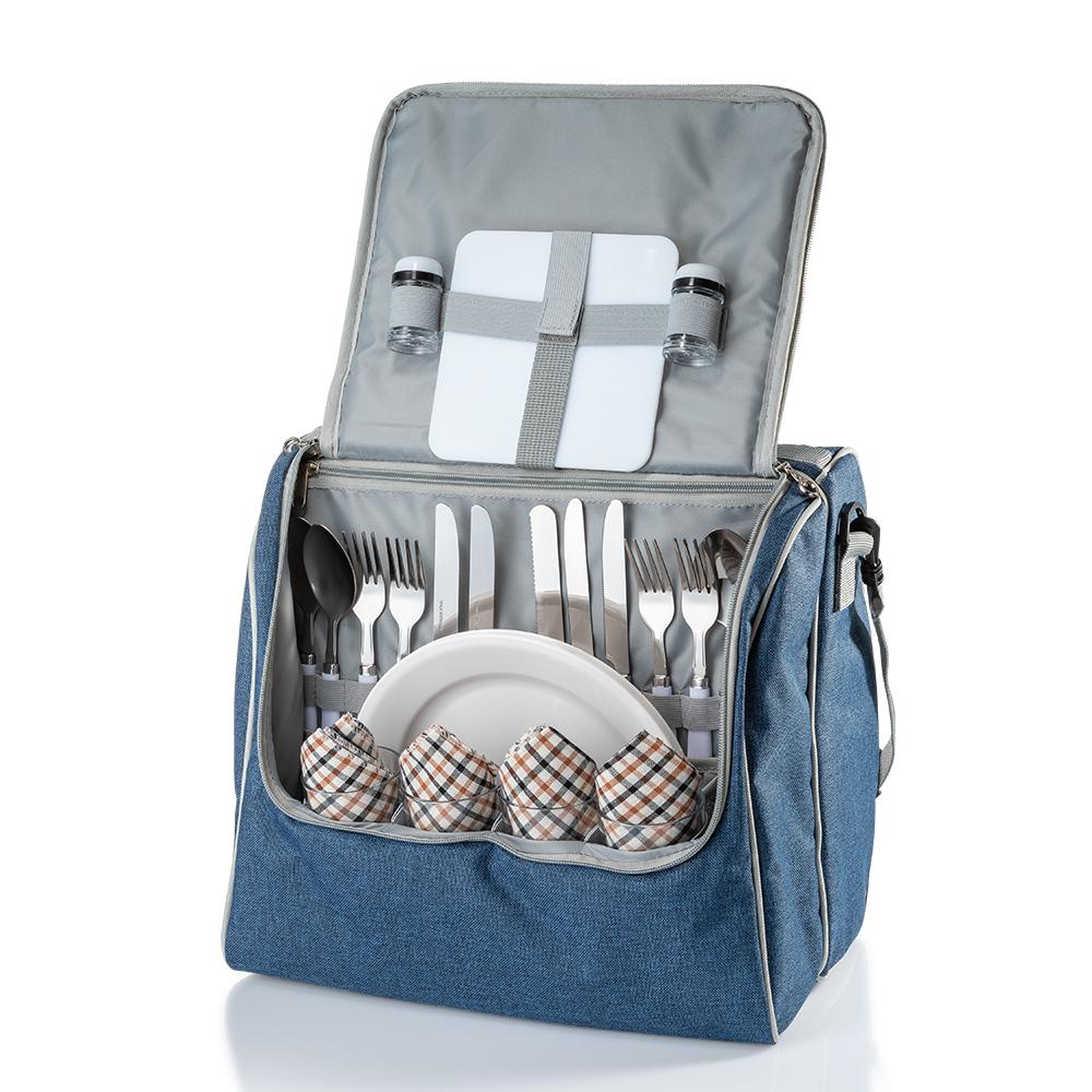 Набір для пікніка на 4 персони Кемпінг Family bag з термо відділом