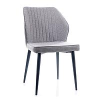 Серый кухонный стул с обивкой из ткани Signal Apollo в скандинавском стиле на металлокаркасе Польша