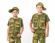 Жилет тактический детский Сталкер для мальчиков камуфляж A-TACS