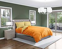 Комплект постельного белья Облака Бязь ДвуспальныйКомбинированный Оранжевый с Желтым