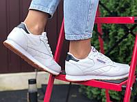 Жіночі кросівки Reebok Classic білі – підліткові демісезонні шкіряні 39