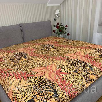 """Літній ковдру покривало Леопард"""" двоспальне окантованное, 175/210"""
