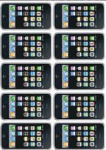Вафельная картинка Телефоны и планшеты 4