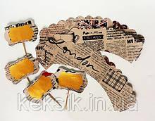 Декор набор тарталетки и топперы 4шт